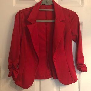 Versatile Red Blazer